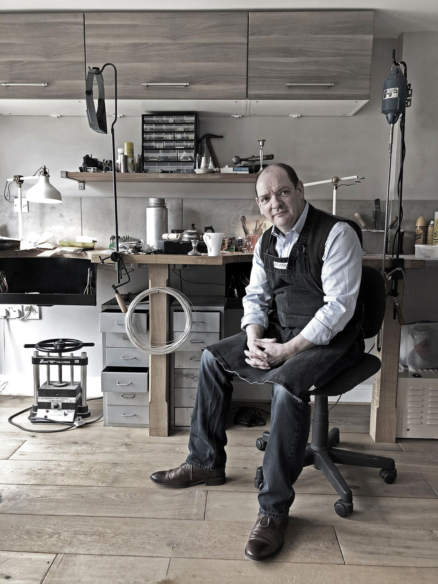 Lee Orton in his Workshop