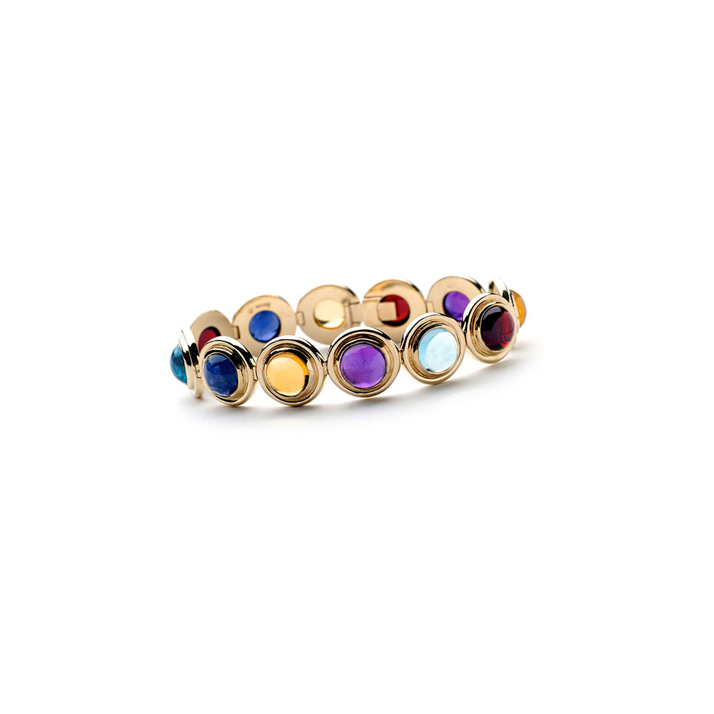 Gold and Gemstone Bracelet