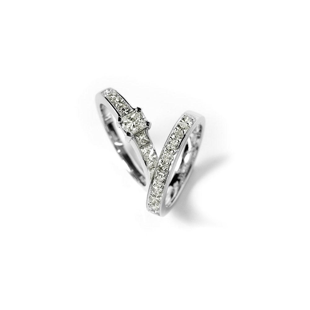 Platinum Engagement and Wedding Rings