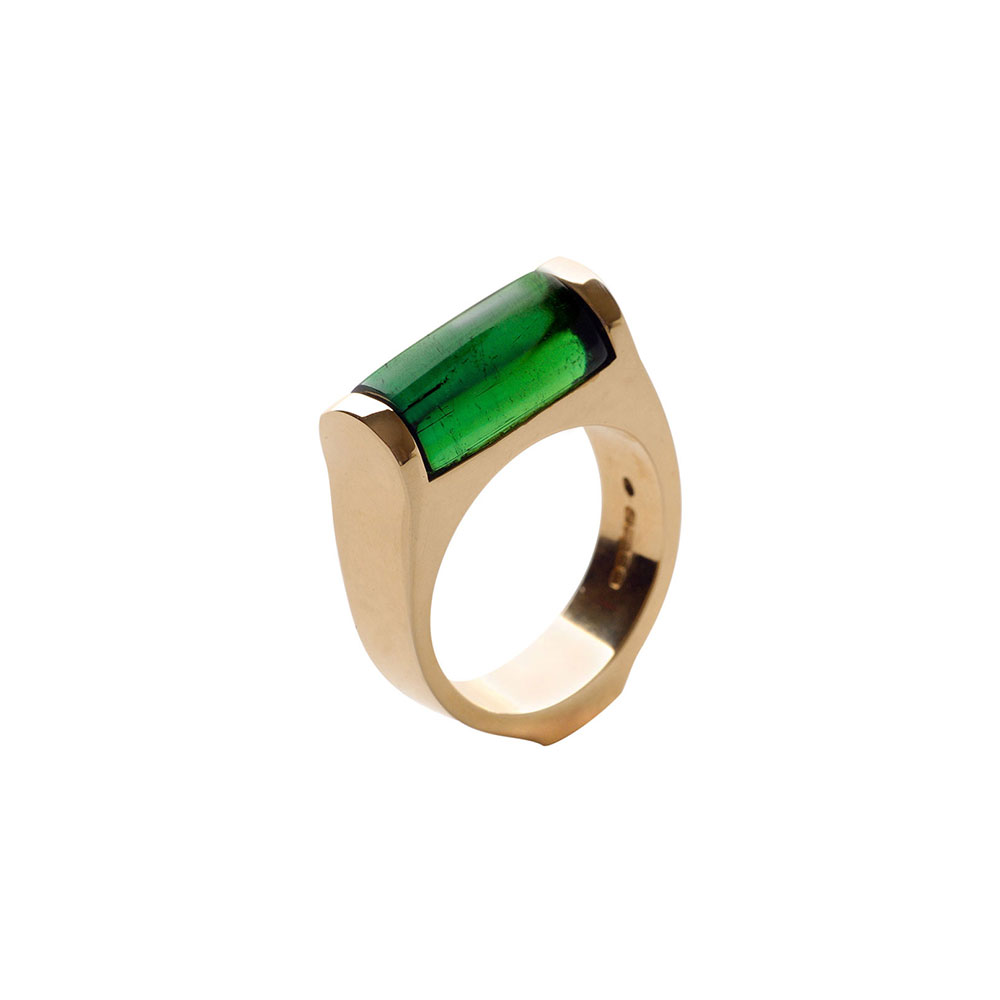 18ct Gold Green Tourmaline Ring