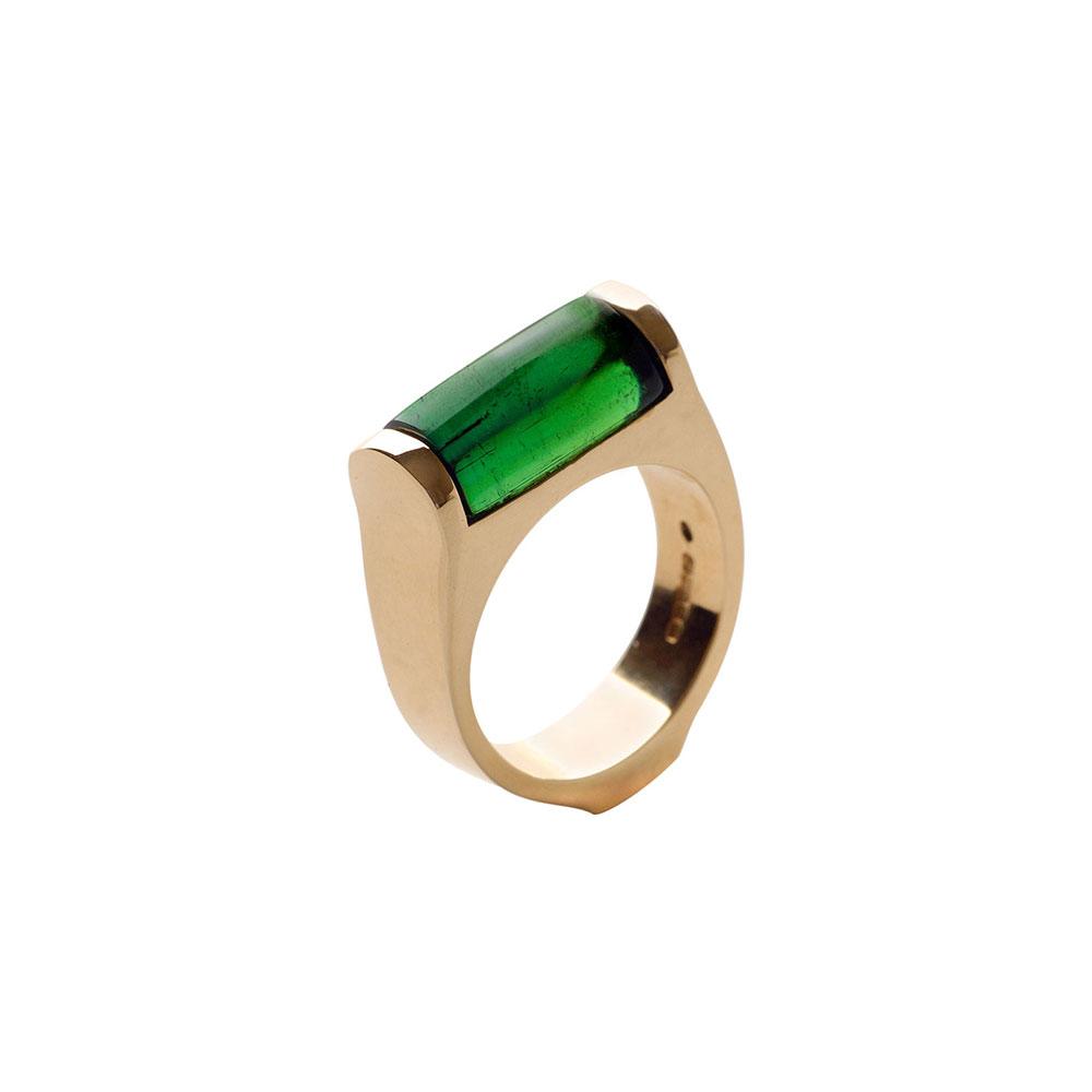 18ct Gold Green Tourmaline Ring