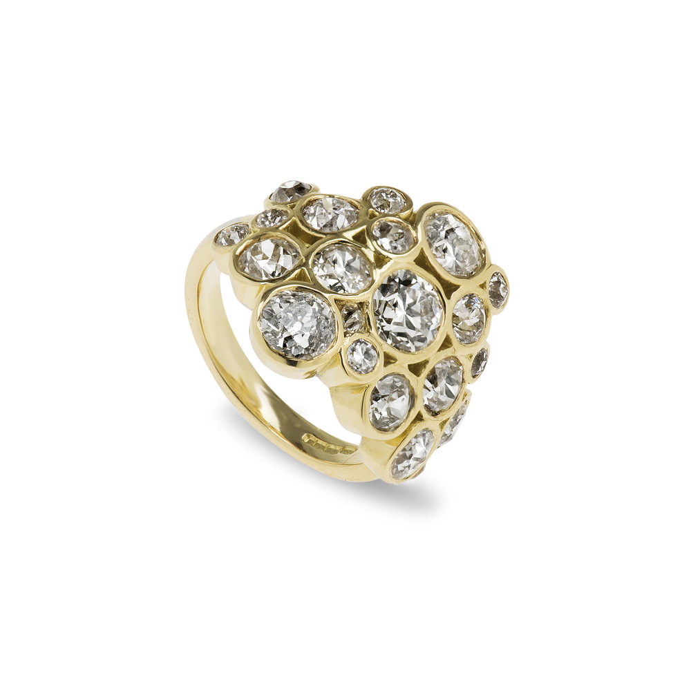 18ct Gold Old Cut Diamond Ring
