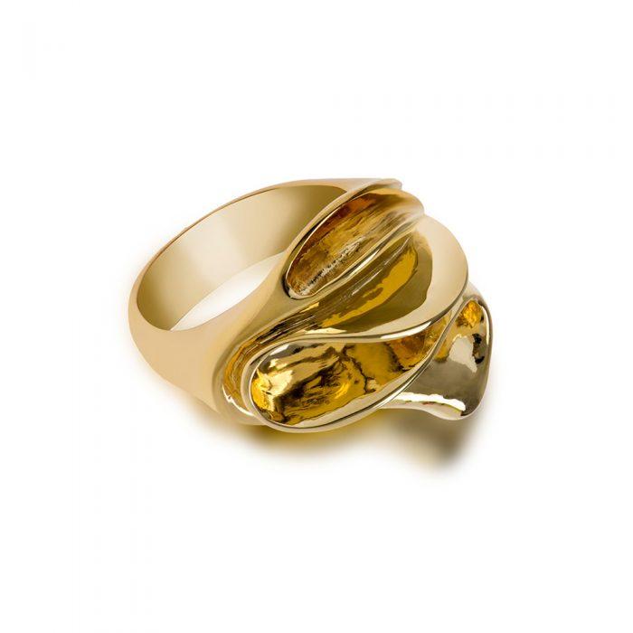Gold Organic Ring