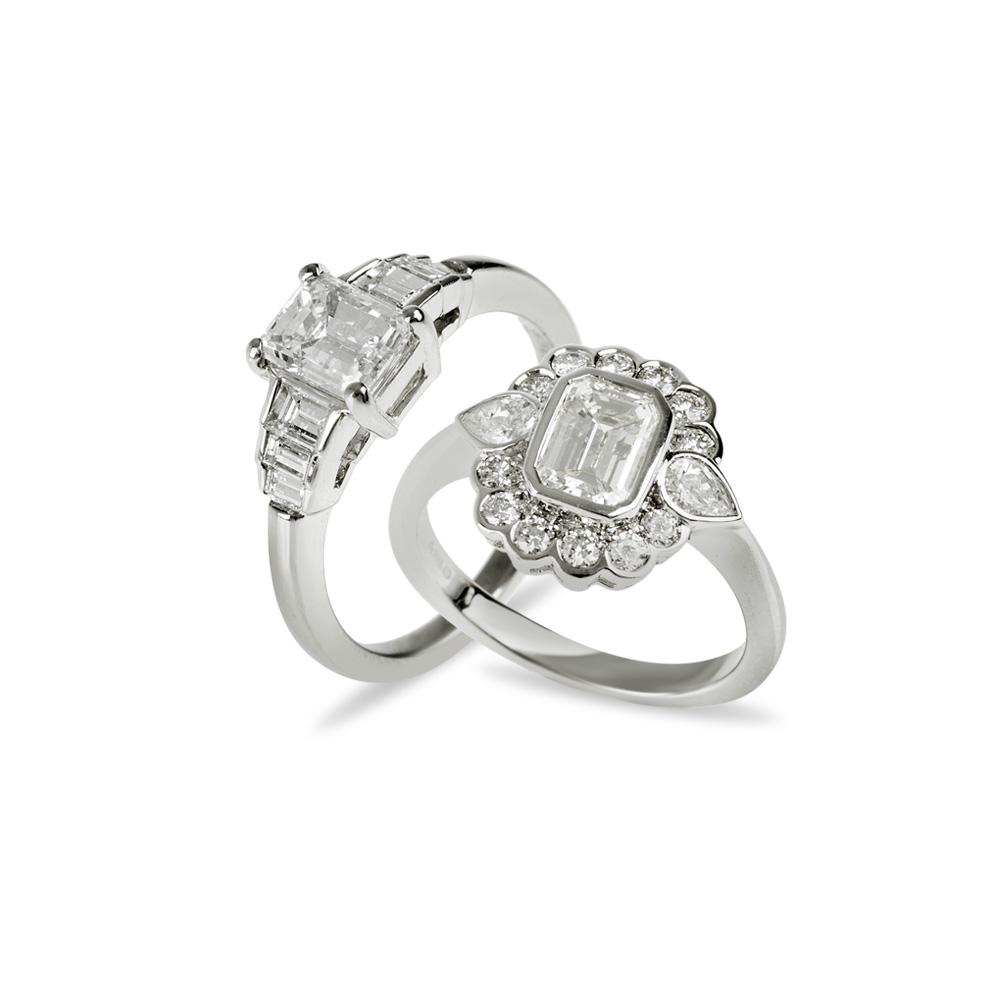 Platinum Diamond Engagement Rings